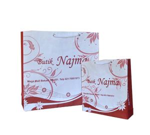 Tas Kertas Putih Butik Najma Bekasi