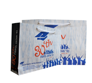 Tas Kertas Putih Reuni Kampus Fisipol Untan