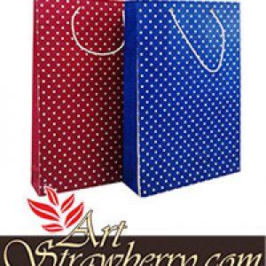 TB 5 Polkadot Biru dan Merah (29x8x36,5)cm