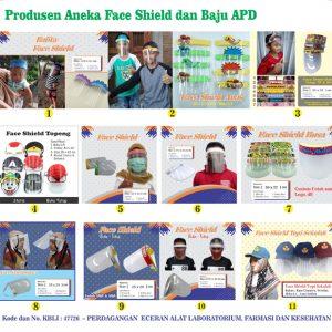 Aneka Pelindung Wajah atau Face Shield